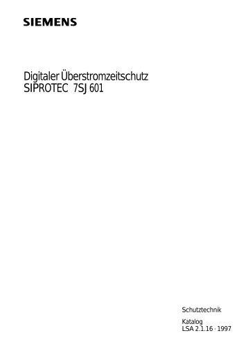 DigitalerÜberstromzeitschutz SIPROTEC 7SJ601