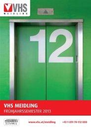 Frühjahrsprogramm 2013 - Verband Wiener Volksbildung
