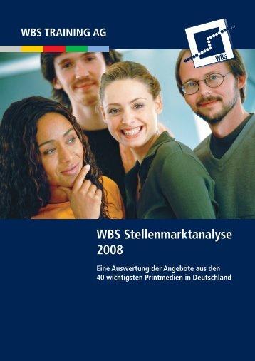 7266_08 Stellenmarktanalyse 08_RZ.indd - WBS Training AG