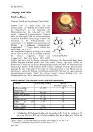 Doping mit Coffein