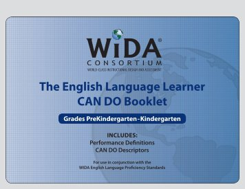 The English Language Learner CAN DO Booklet - WIDA
