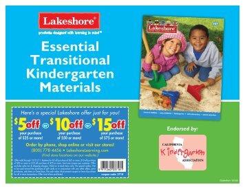 Essential Transitional Kindergarten Materials - California ...