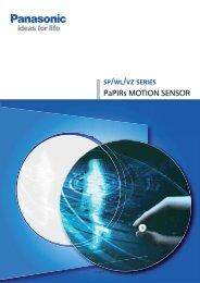 PaPIRs MOTION SENSOR - Panasonic Electric Works Schweiz AG
