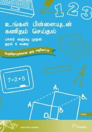 Tamil - Doing Mathematics with Your Child, Kindergarten to Grade 6 ...