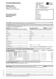 Anmeldung/Bestellung - BAUExpo - Messe Giessen GmbH