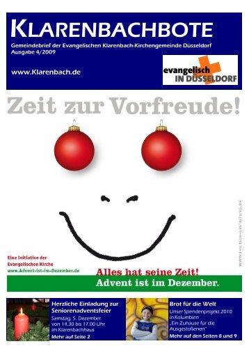 Klarenbachbote 4.09_aktuell - Evangelische Klarenbach ...