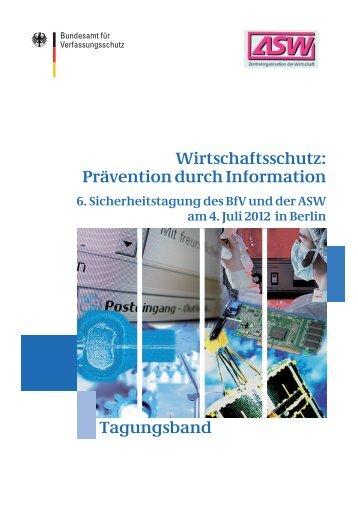 ASW BfV Tagung - Bundesamt für Verfassungsschutz