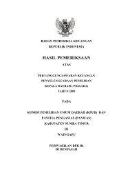 HASIL PEMERIKSAAN - Badan Pemeriksa Keuangan