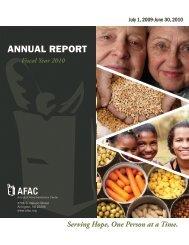 FY 2010 Annual Report - Arlington Food Assistance Center