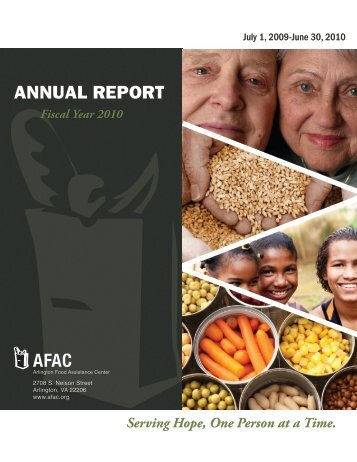 FY 2010 Annual Report - Arlington Food Assistance Center