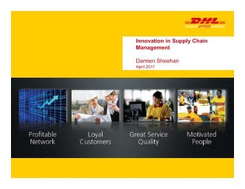 Innovation in Supply Chain Management S Damien Sheehan