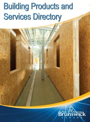 Building Products Services Directory - Government of New Brunswick