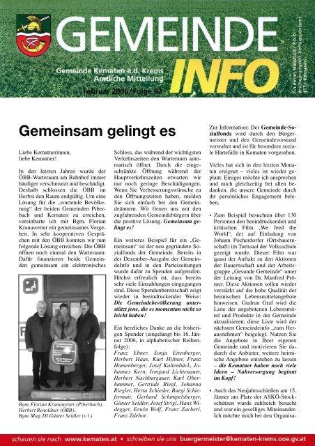 Partnersuche in Kematen an der Krems - Kontaktanzeigen