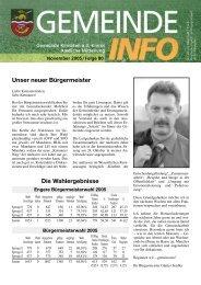 Unser neuer Bürgermeister Die Wahlergebnisse - Kematen an der ...