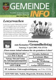 Die Gemeinde Informiert - Folge 77 - Kematen an der Krems