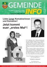 Die Gemeinde Informiert - Folge 100 - Kematen an der Krems - Land ...