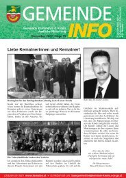 Die Gemeinde Informiert - Folge 95 - Kematen an der Krems