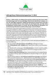 Das neue Mehrwertsteuer-Gesetz - BWSo