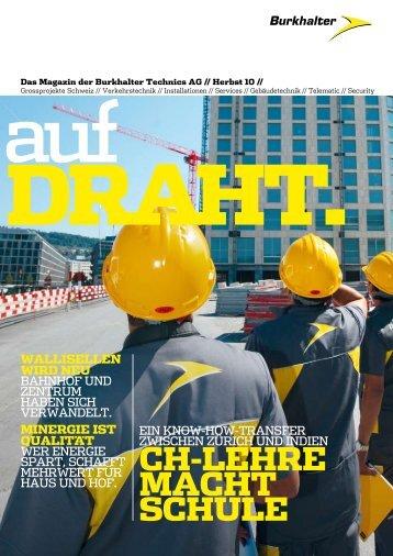 Das Magazin der Burkhalter Technics AG