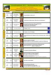 Veranstaltungskalender 2012 - Haus Sonnenblick Bad Teinach