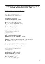 Liste Prüfungsbeste Landshut - IHK Niederbayern