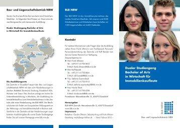 Dualer Studiengang Bachelor of Arts in Wirtschaft - Bau- und ...