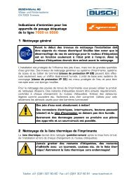 Indications d'entretien Espera ligne 7000 et 9000 - Busch-Werke AG