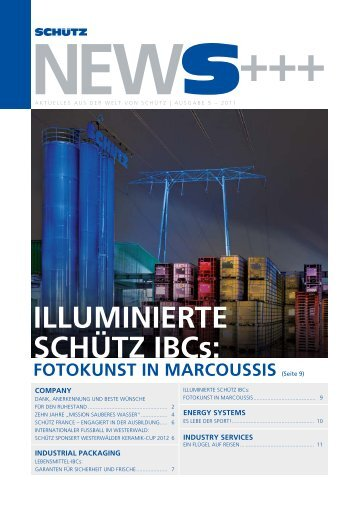 IllumINIErtE SCHÜtZ IBCs: - Schutz GmbH & Co. KGaA