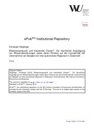 ePub Institutional Repository - Electronic Publications of the WU ...