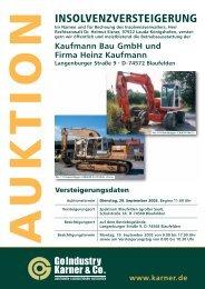 Kaufmann Bau GmbH und Firma Heinz Kaufmann
