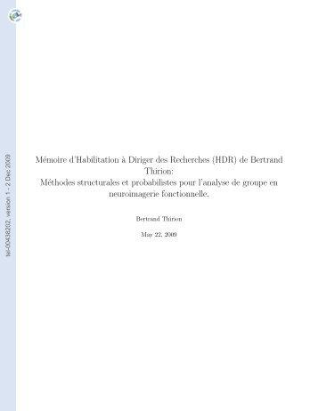 Méthodes structurales et probabilistes pour l'analyse de groupe en ...