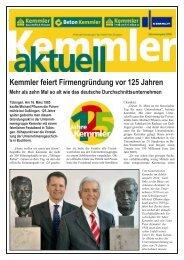 Kemmler feiert Firmengründung vor 125 Jahren - Beton Kemmler