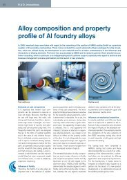 Alloy composition and property profile of Al ... - Austria Metall AG