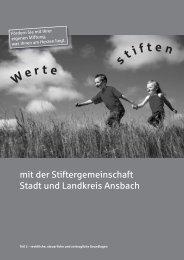 Rechtliche & steuerliche Grundlagen - Sparkasse Ansbach