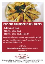 FRISCHE FRUTIGER FISCH FILETS - Metzgerei Stettler