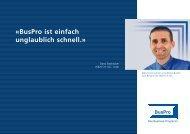 «buspro ist einfach unglaublich schnell.» - Buspro AG