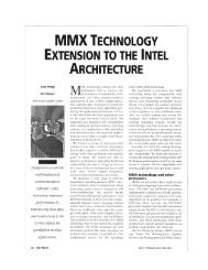 MMX technology extension to the Intel architecture - IEEE Micro
