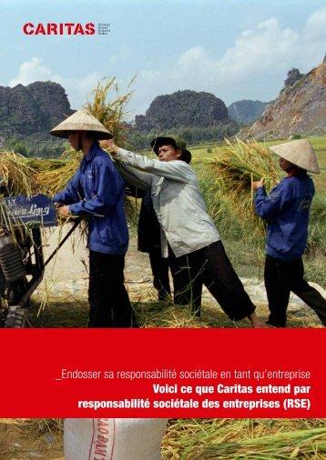 Corporate Social Responsibility: ce que Caritas entend par