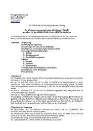 Protokoll der Gründungsversammlung - WgoE