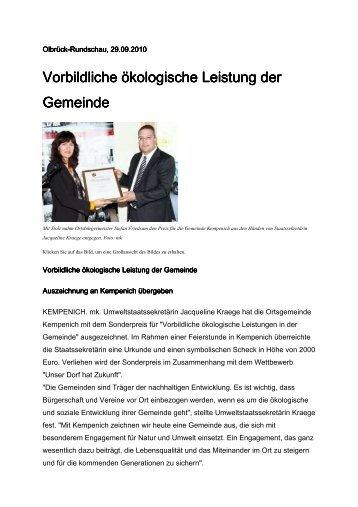 OlbrückRundschau vom 29. September - Gemeinde Kempenich