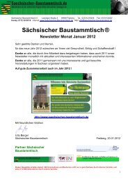 Newsletter Sächsischer Baustammtisch Januar 2012