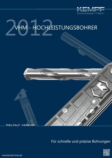 VHM-Hochleistungsbohrer - Kempf