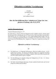 5.09 Öffentlich-rechtliche Vereinbarung mit der ... - Landkreis Kassel