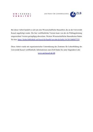 Evolutionsbiologie und Schöpfungsglaube - KOBRA - Universität ...