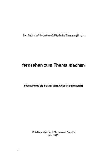 Fernsehen zum Thema machen - KOBRA - Universität Kassel