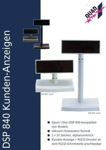 DSP 840 Kunden-Anzeigen