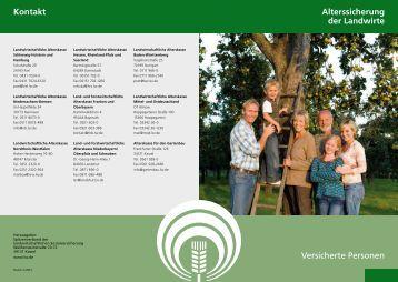 Alterssicherung der Landwirte Versicherte Personen Kontakt - LSV