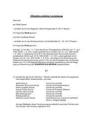 4.15 Öffentlich-rechtliche Vereinbarung über die ... - Landkreis Kassel
