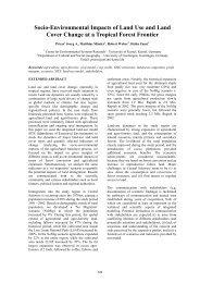 Socio-Environmental Impacts of Land Use and Land ... - MSSANZ