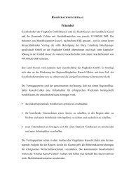 9.33 Kooperationsvertrag zur Flughafen GmbH ... - Landkreis Kassel